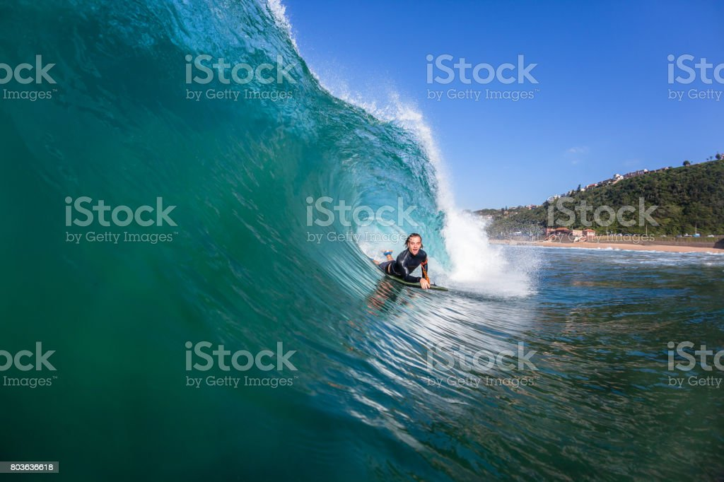 Surfing Wave Water Action stock photo