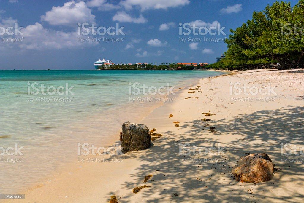 Surfside Beach, Aruba stock photo