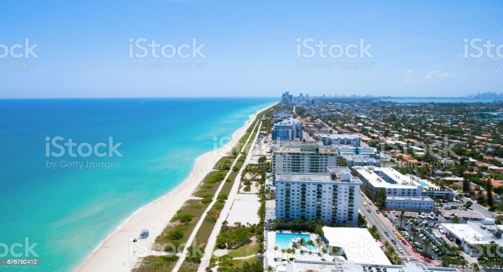 Surfside Miami Florida. Beach residences. stock photo