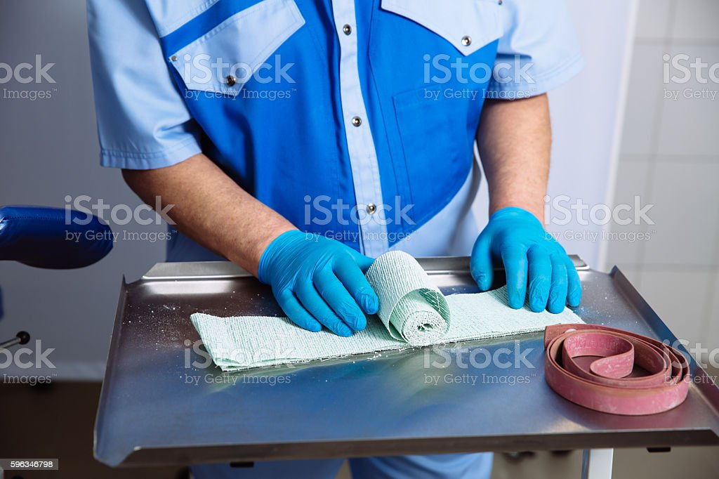 Surgeon and medical equipments in doctor hands. Concept of a Lizenzfreies stock-foto