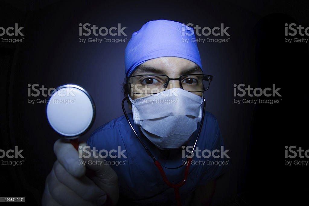 Surgeon and Stethoscope stock photo