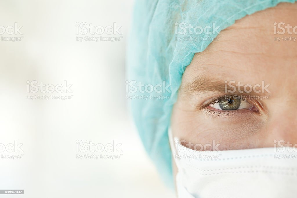 Surgeon in a Cap and Mask royalty-free stock photo