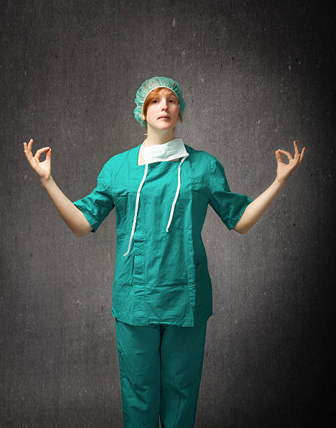 surgeon in a zen meditation pose