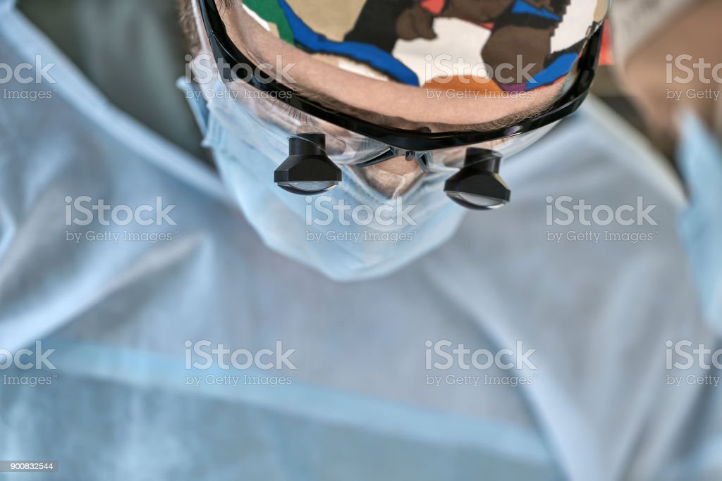 Surgeon in operating room stock photo