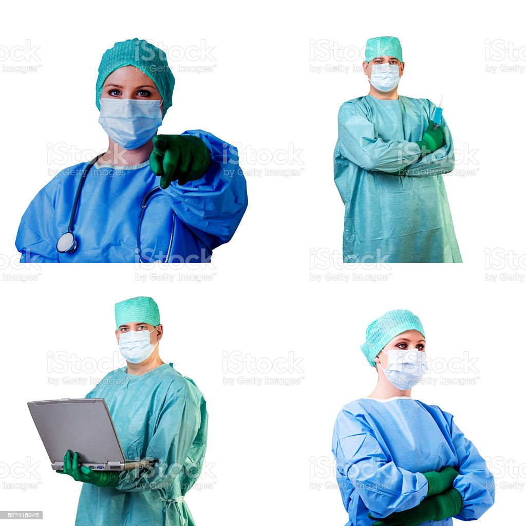 surgeon in uniform stock photo