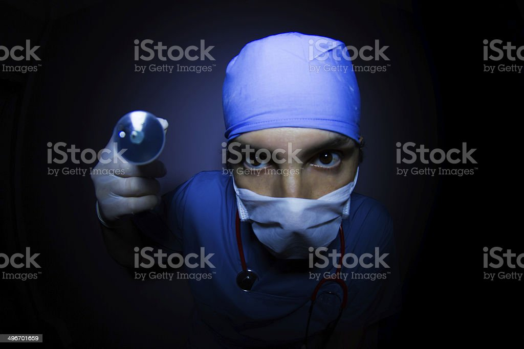 Surgeon  With Injection stock photo