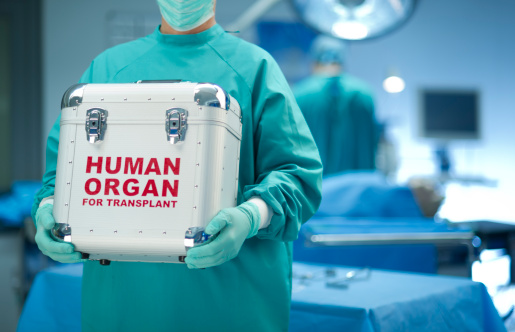 Surgeon With Organ Donation Stock Photo - Download Image Now