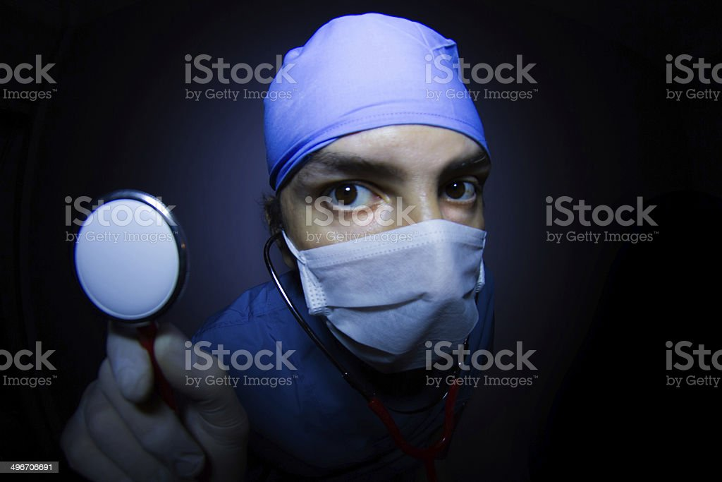 Surgeon  With Stethoscope stock photo
