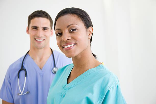 surgeons in scrubs - hospital studio bildbanksfoton och bilder