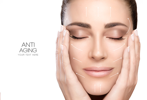 istock Surgery and Anti Aging Concept. Beauty Face Spa Woman 526567106