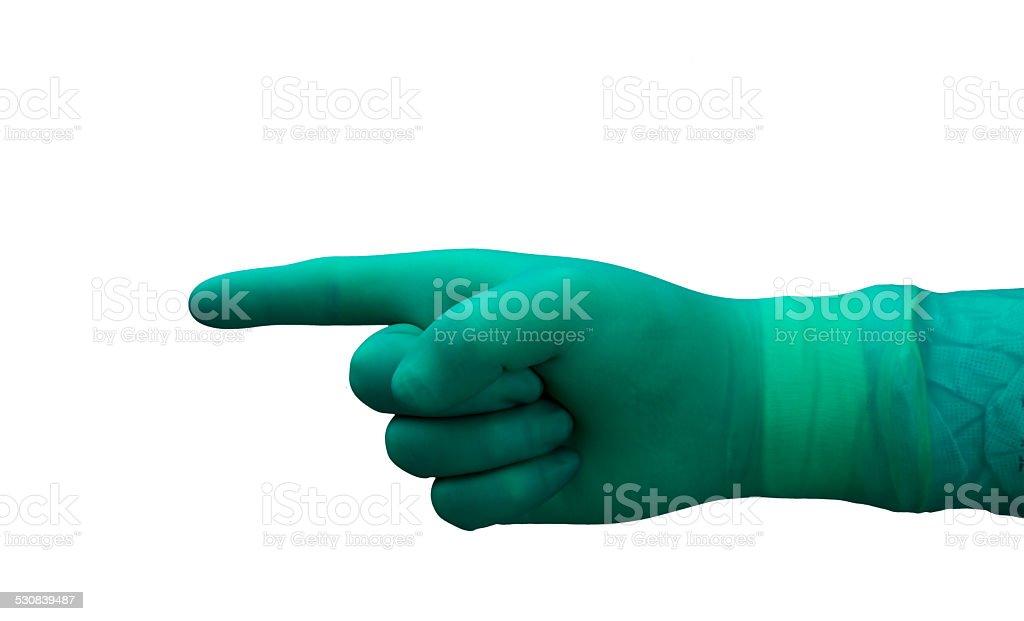 surgery glove stock photo