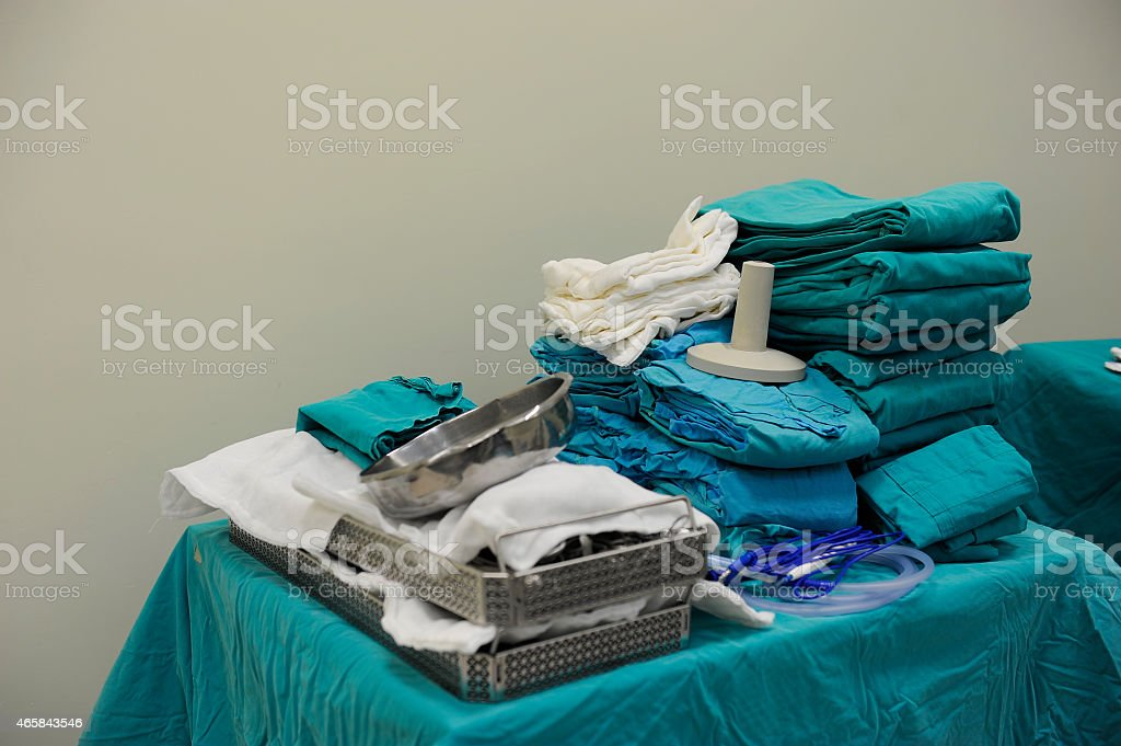 Surgery instruments stock photo