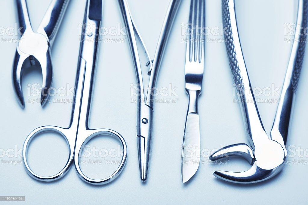 surgery instruments stock photo