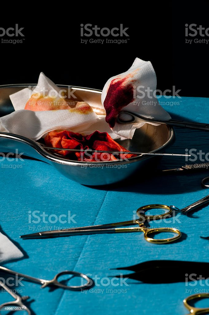 Surgery Tools With Blood royalty-free stock photo