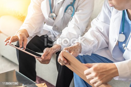 istock Surgical doctor teamwork, ER surgery team, orthopedic surgeon working in hospital medical clinic office meeting room diagnostic exam on patient care operation, professional service concept 1139567280