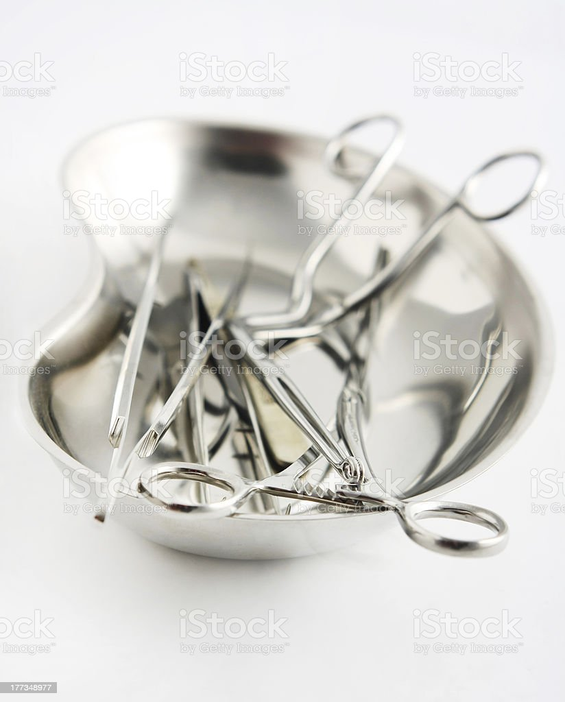Surgical instruments stock photo