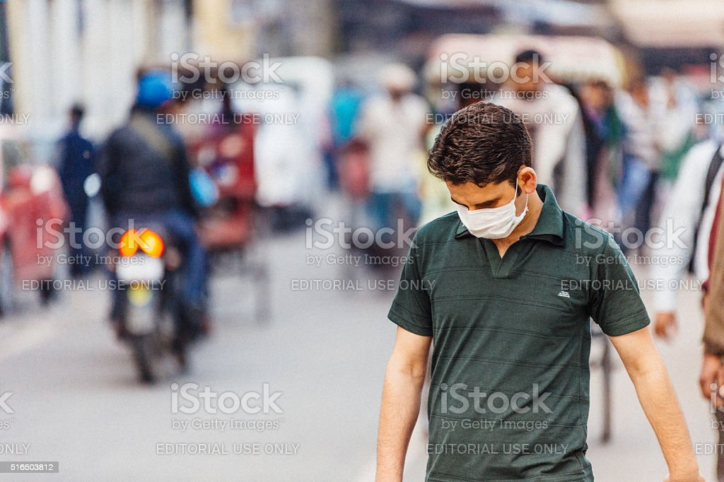 Surgical mask stock photo