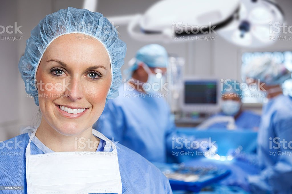 Surgical Nurse royalty-free stock photo