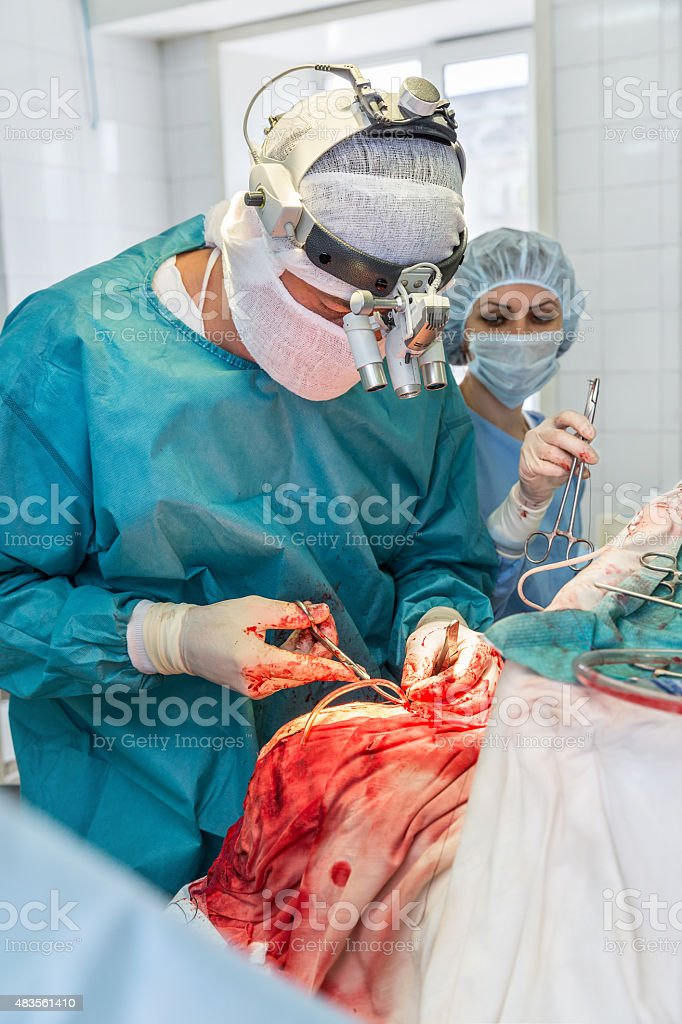 surgical operation stock photo