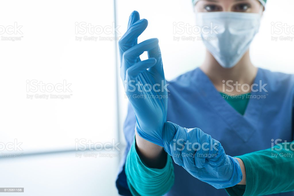 Surgical preparation stock photo