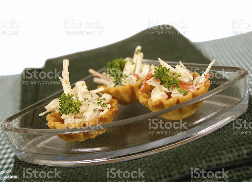 Surimi tarts stock photo