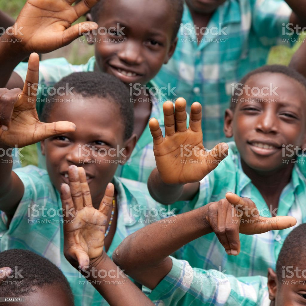 Suriname, at school. royalty-free stock photo