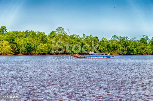 Boat on the Suriname River, Suriname, South America