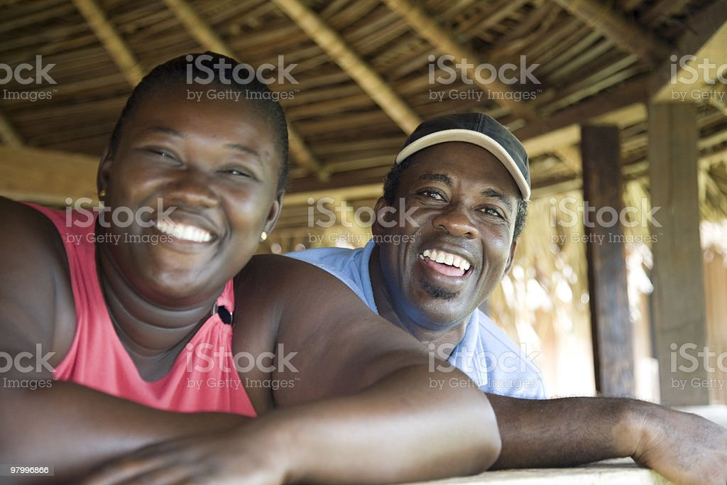 Suriname, happy couple. royalty-free stock photo