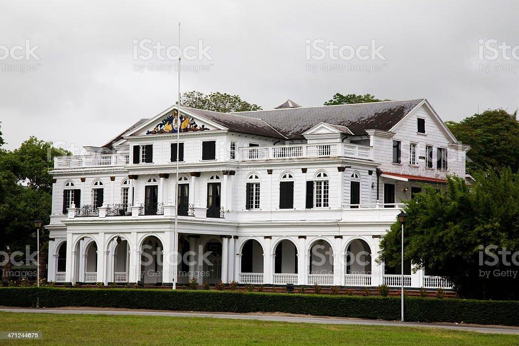 Suriname, palace. stock photo