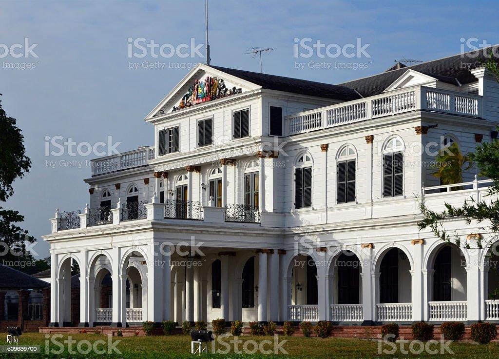 Suriname, Paramaribo: Presidential Palace stock photo