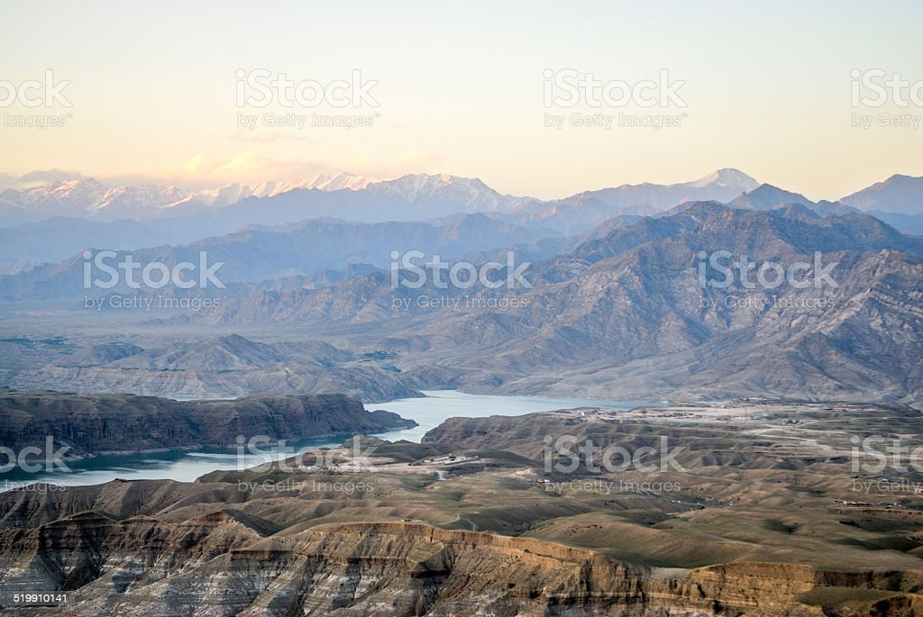vallée de surobi, afghanistan, lac, paysage stock photo
