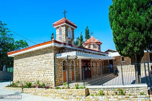 Antakya - Turkey, May 27, 2017: Surp Asdvadzadzin Church in Vakifli. Vakifli Village is Turkey's only Armenian village after 1915 Armenian Genocide. Antakya, Samandag