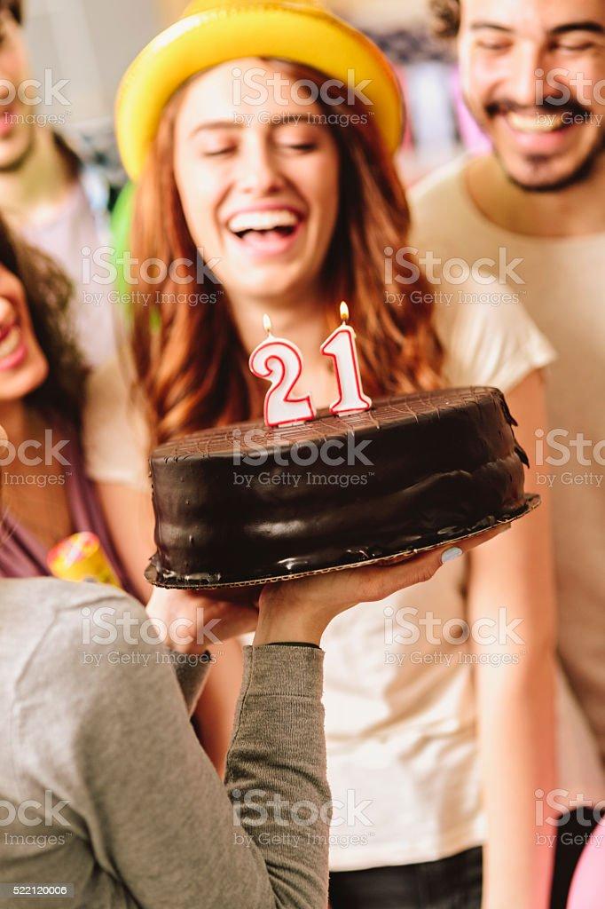 Surprise 21st Birthday Party stock photo