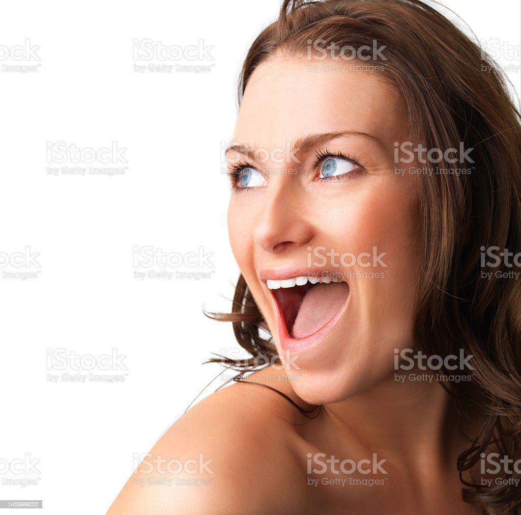 Surprise - A very surprised girl royalty-free stock photo