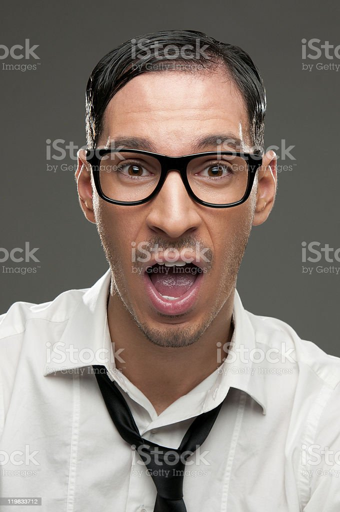Surprise and shock royalty-free stock photo