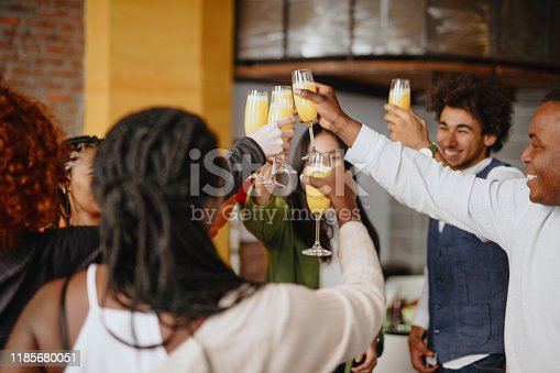 istock Surprise birthday party for one of the roommates 1185680051