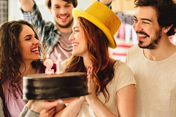 Surprise Birthday Party stock photo