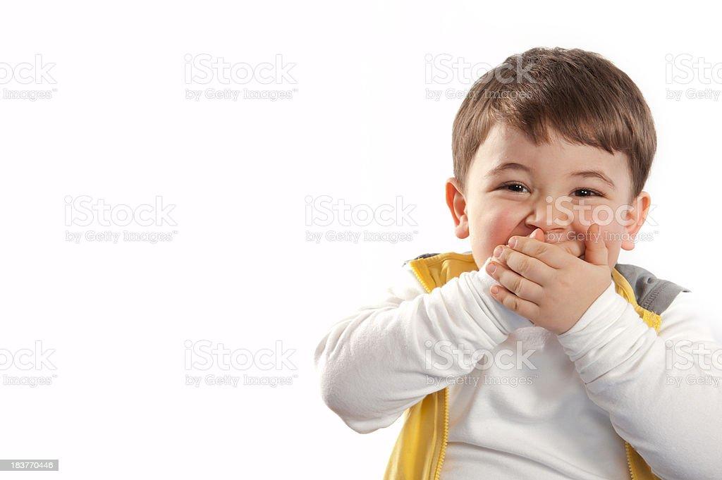 Sorpresa niño - foto de stock