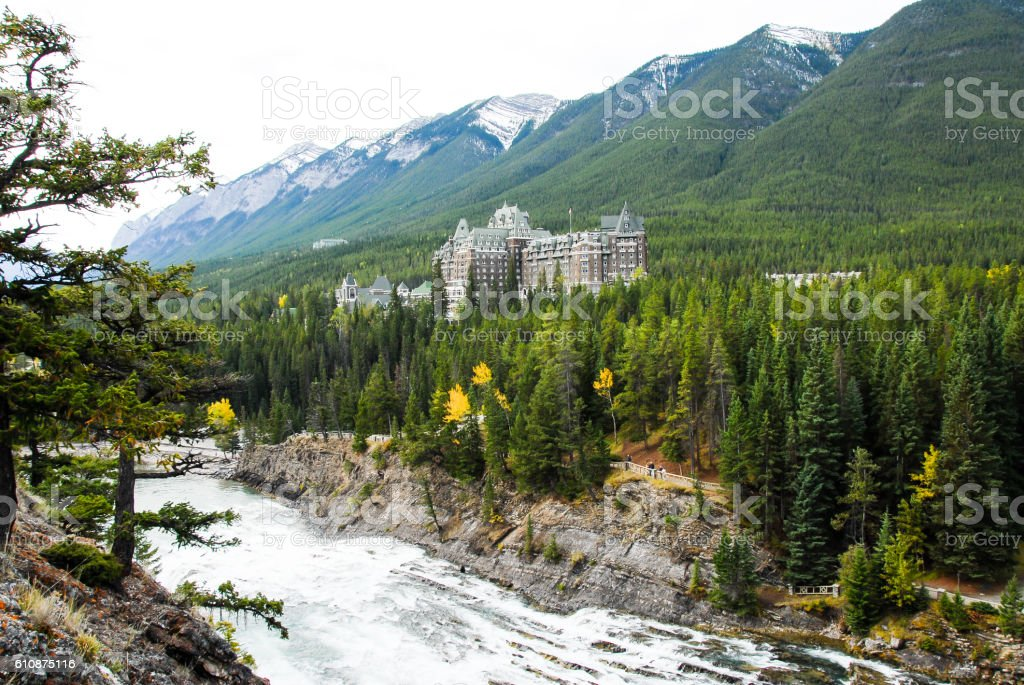Surprise Corner in Banff, Canadian Rockies stock photo