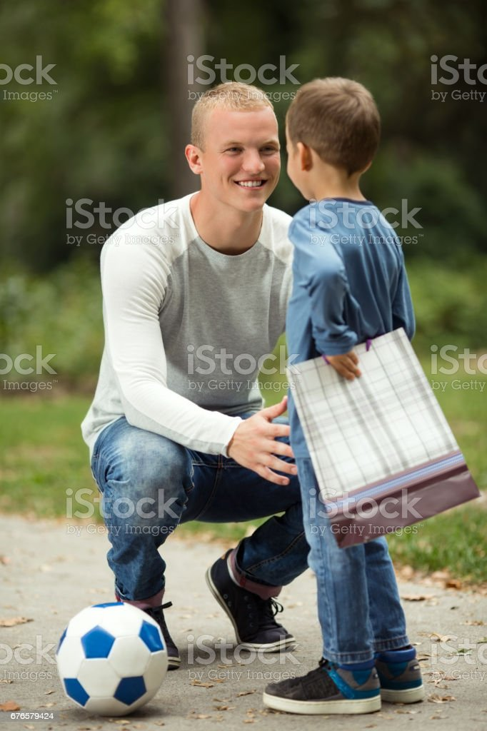 Surprise for Dad stock photo