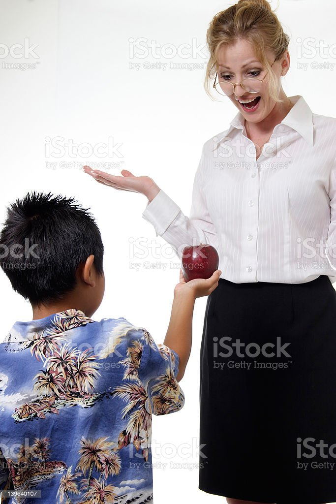 surprise for the teacher royalty-free stock photo