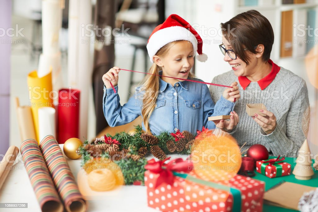 Surprise for xmas stock photo