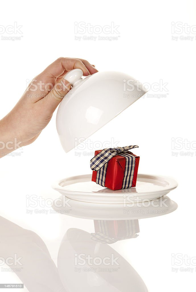Surprise gift royalty-free stock photo