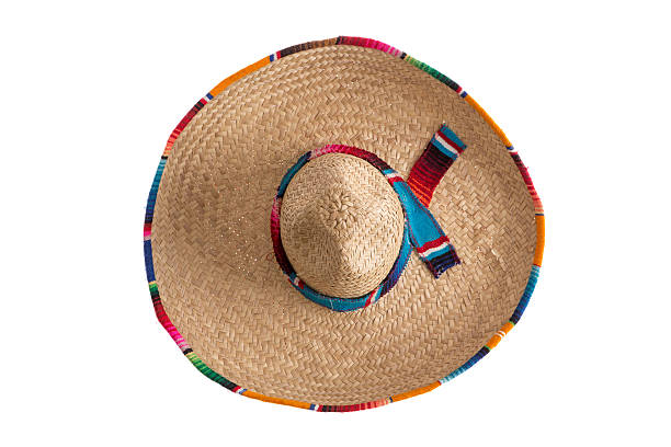 Surprise - what is under the sombrero stock photo