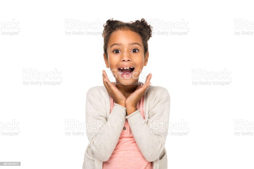 enfants afro-américains surpris photo libre de droits