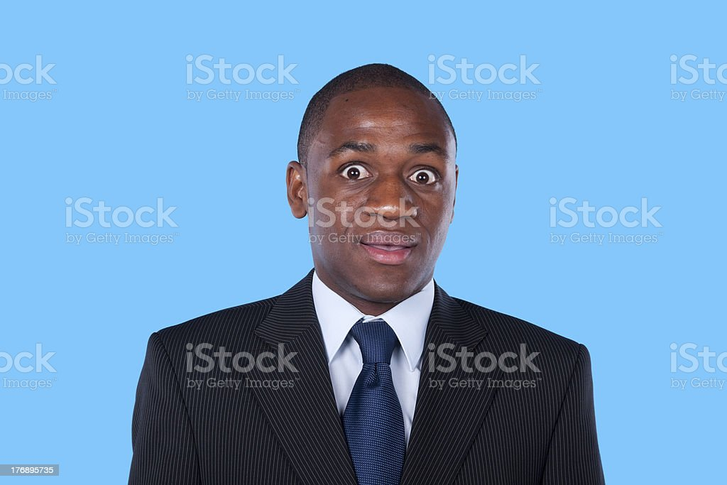 Surprised african businessman royalty-free stock photo