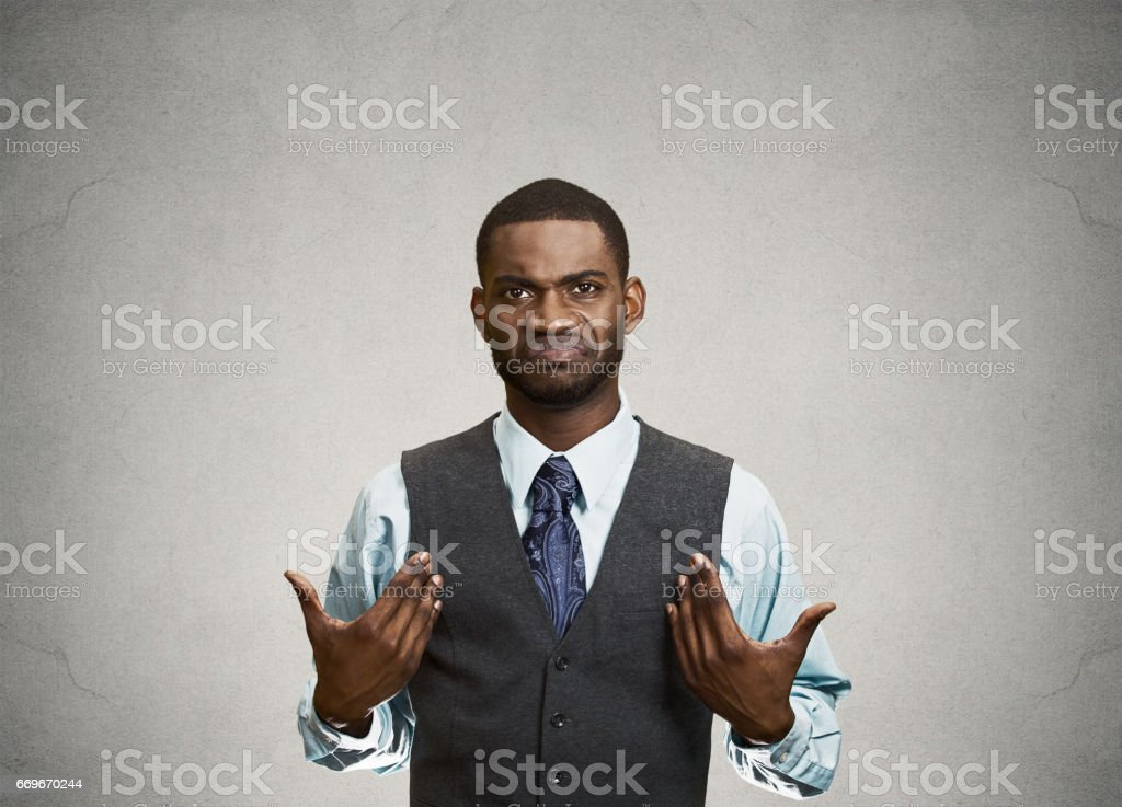 surprised, angry, mad, unhappy, annoyed young executive man stock photo