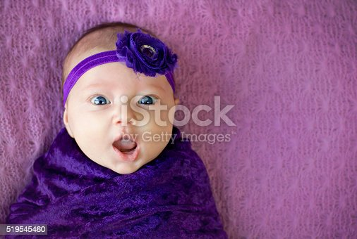 istock Surprised baby girl 519545460