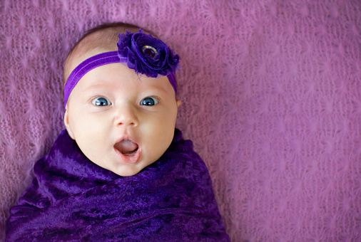 istock Surprised baby girl 519545460