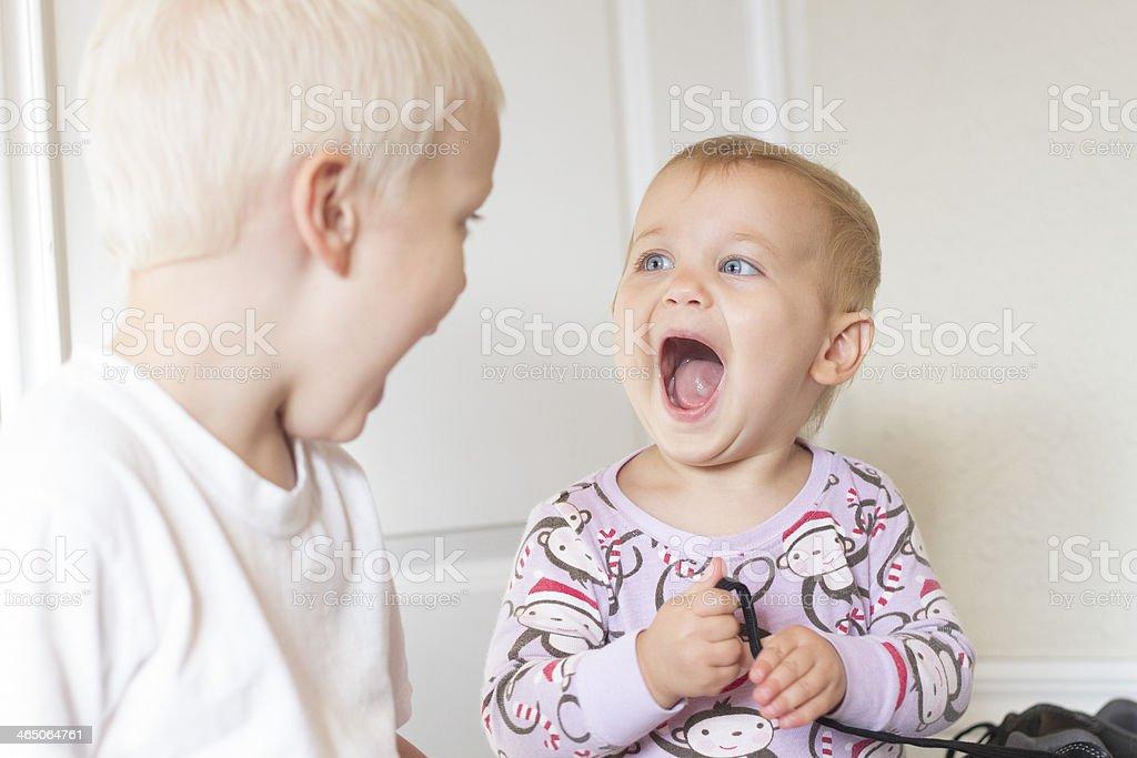 Surprised baby! stock photo